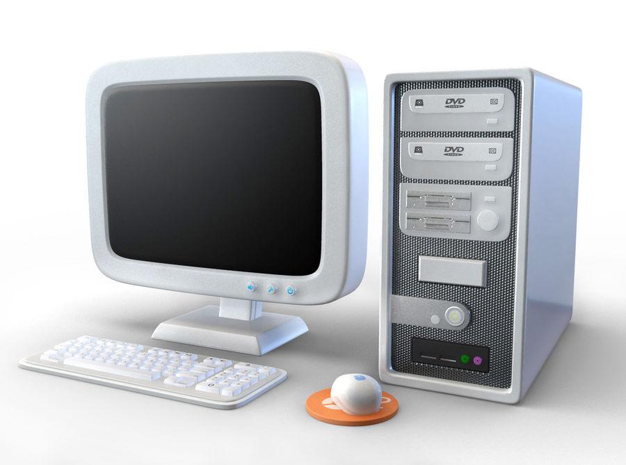 tecknad dator pc-uppsättning royalty-free 3d model - Preview no. 1