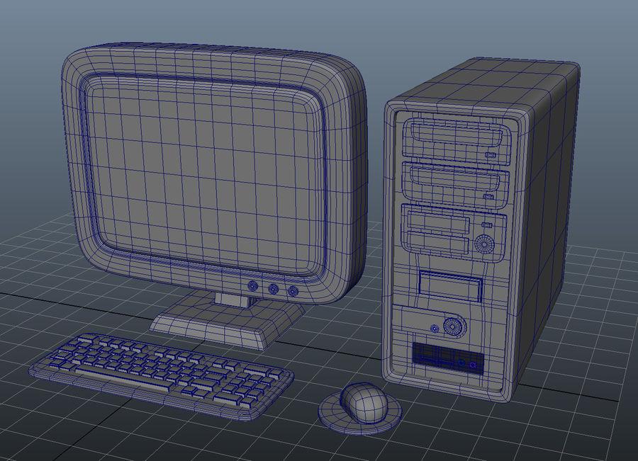tecknad dator pc-uppsättning royalty-free 3d model - Preview no. 6
