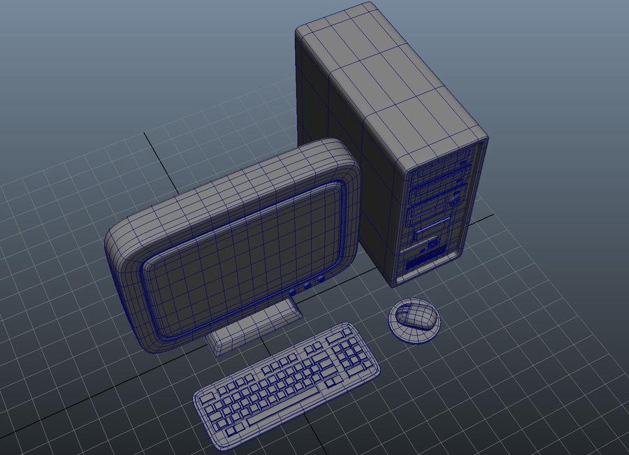 tecknad dator pc-uppsättning royalty-free 3d model - Preview no. 7