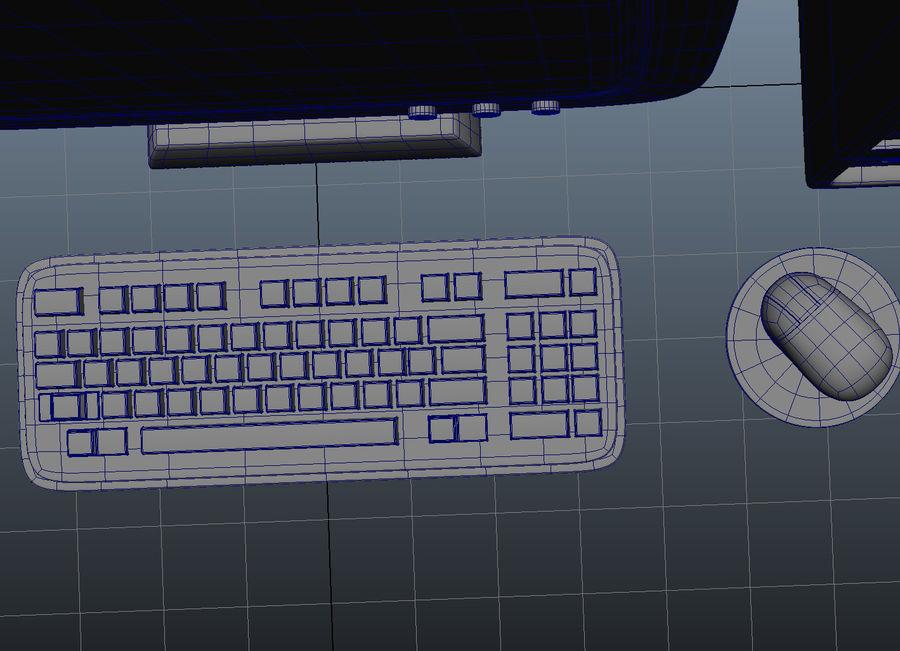tecknad dator pc-uppsättning royalty-free 3d model - Preview no. 9