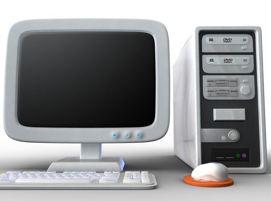 tecknad dator pc-uppsättning royalty-free 3d model - Preview no. 2