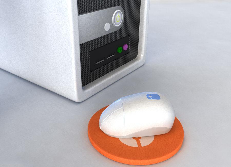 tecknad dator pc-uppsättning royalty-free 3d model - Preview no. 5