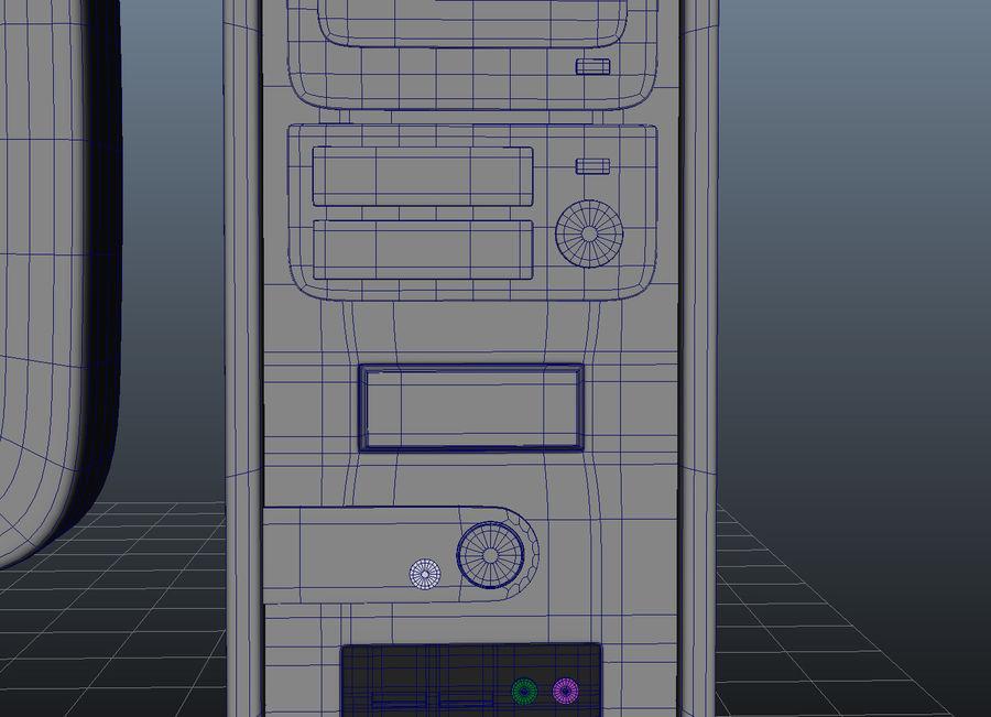tecknad dator pc-uppsättning royalty-free 3d model - Preview no. 11