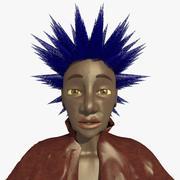 Helen le personnage femme punk 3d model