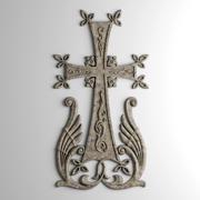 Армянский крест, накладка 3d model