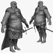 Scultura Zbrush pesante uomo medievale C. 3d model