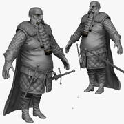 Homme Médiéval Lourd D Zbrush Sculpt 3d model