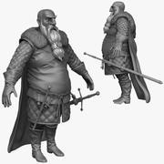 Heavy Medieval Man E Zbrush Sculpt 3d model
