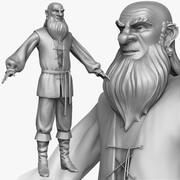 Köylü adam D Zbrush Şekillendirici 3d model
