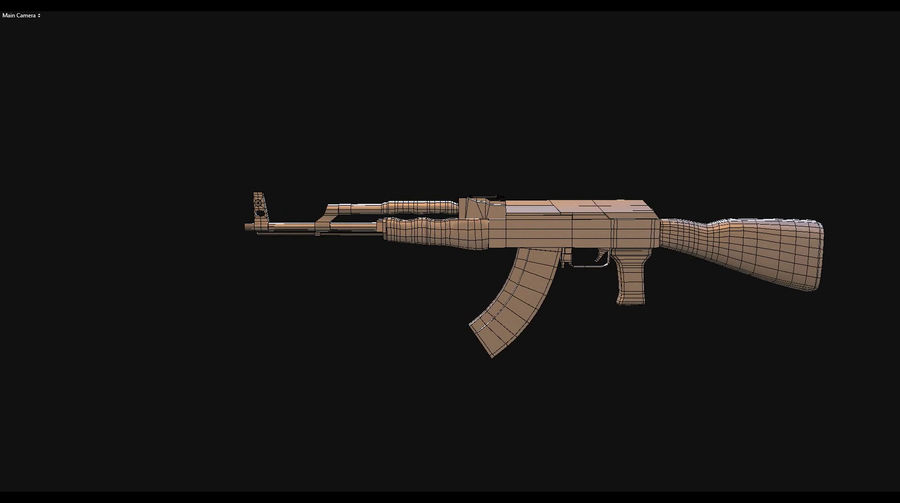 AK 47 royalty-free 3d model - Preview no. 8