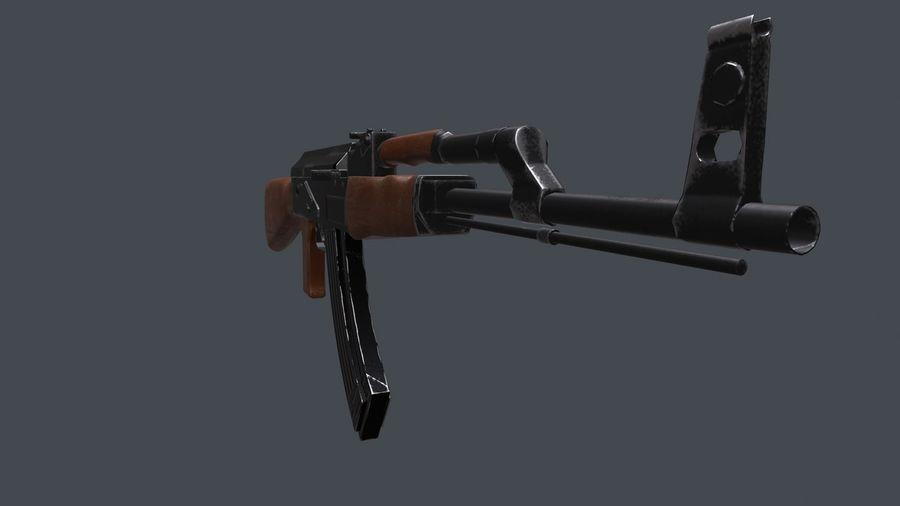 AK 47 royalty-free 3d model - Preview no. 3