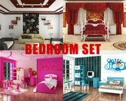 Bed Rooms Set Collection 3d model