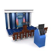 白宫新闻发布室套装1 3d model