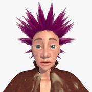 Jill le personnage femme punk 3d model