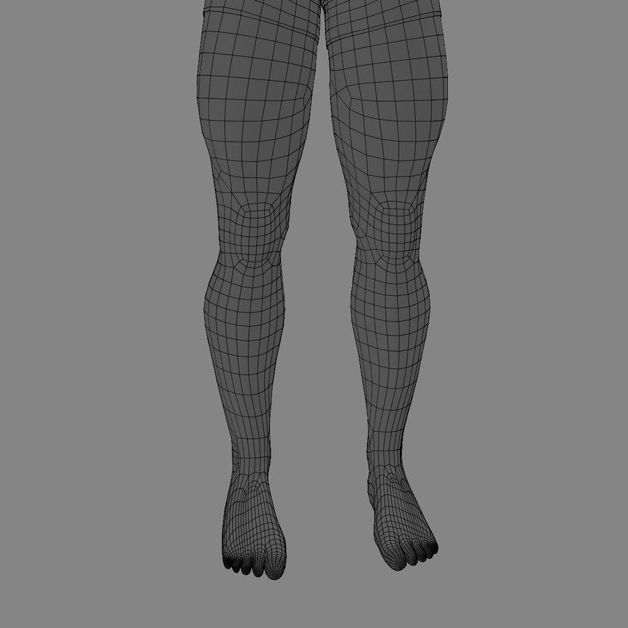 Homem atlético royalty-free 3d model - Preview no. 24