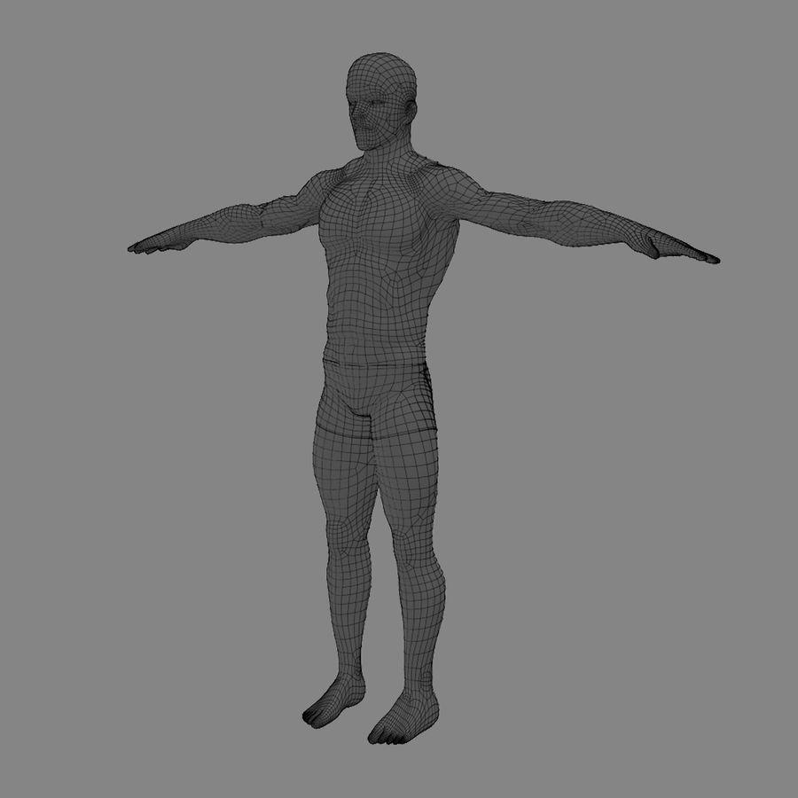 Homem atlético royalty-free 3d model - Preview no. 19