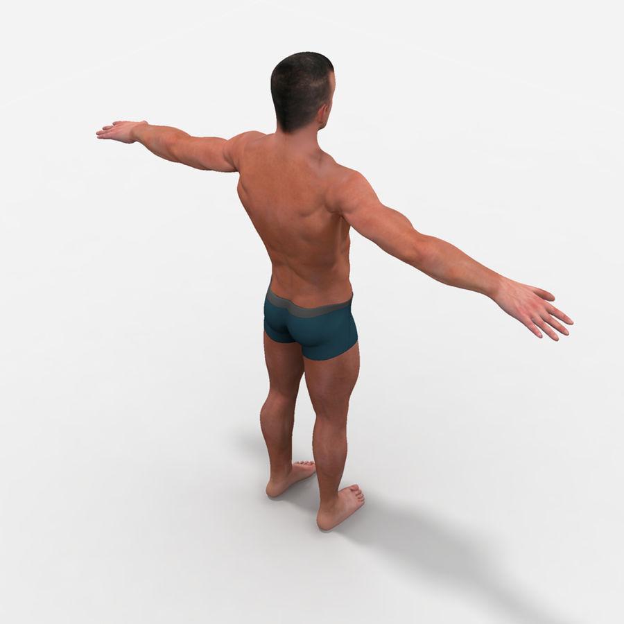 Homem atlético royalty-free 3d model - Preview no. 9