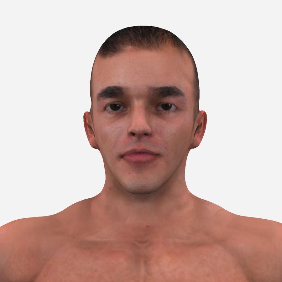 Homem atlético royalty-free 3d model - Preview no. 15