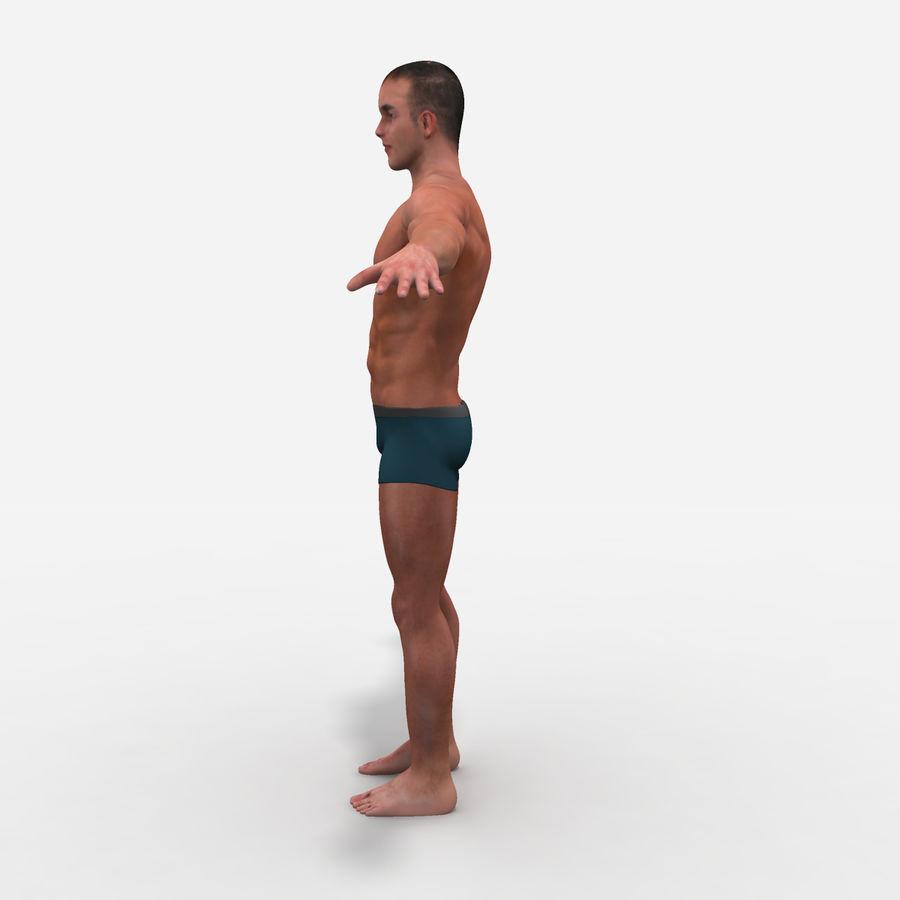 Homem atlético royalty-free 3d model - Preview no. 7