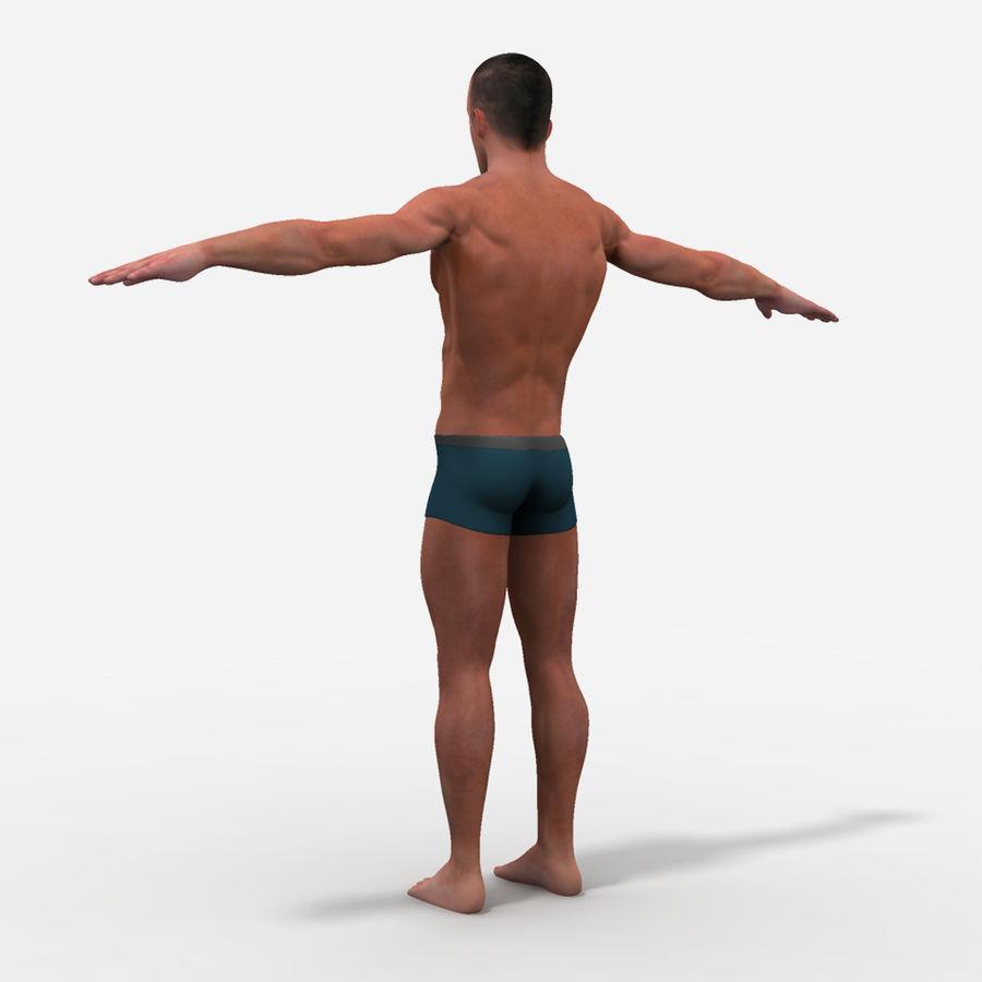 Homem atlético royalty-free 3d model - Preview no. 8