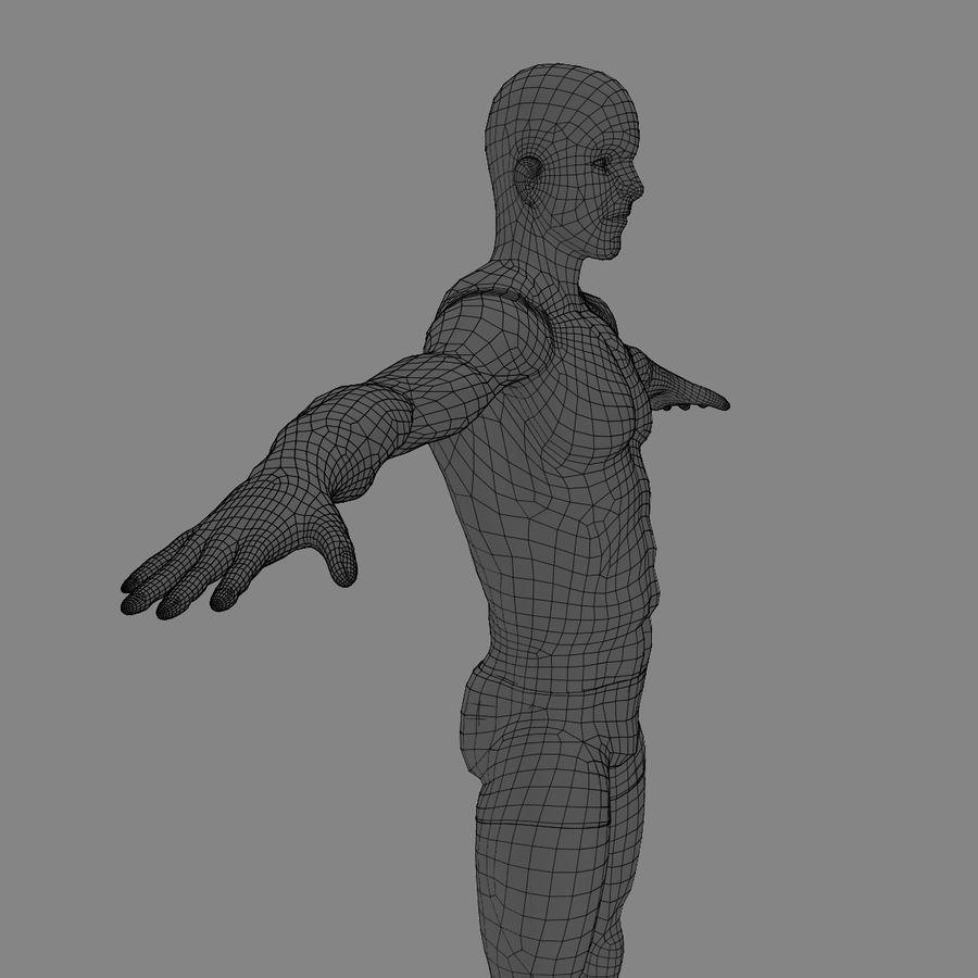 Homem atlético royalty-free 3d model - Preview no. 23
