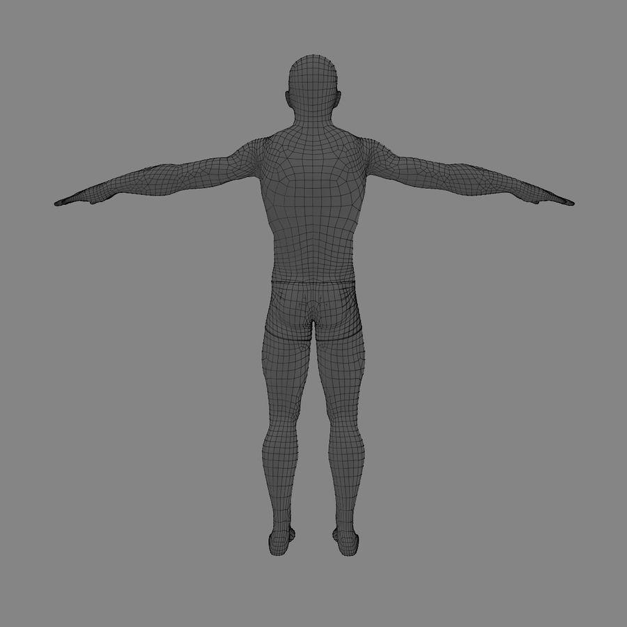 Homem atlético royalty-free 3d model - Preview no. 17