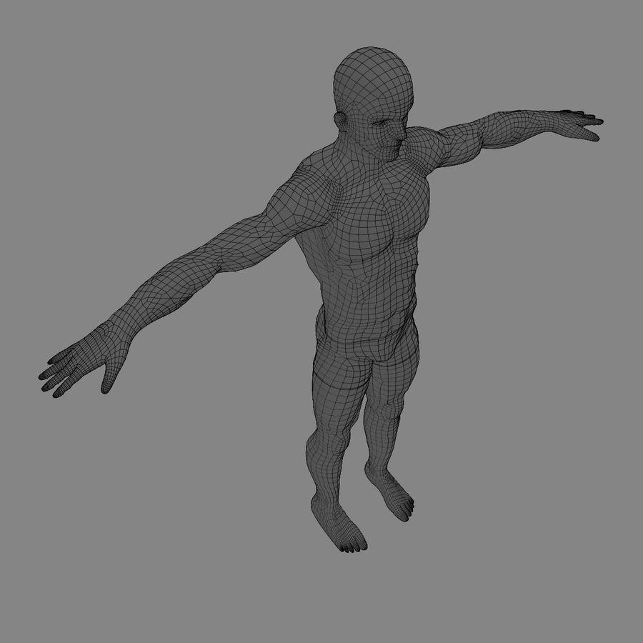 Homem atlético royalty-free 3d model - Preview no. 21