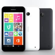诺基亚Lumia 638黑色和白色 3d model