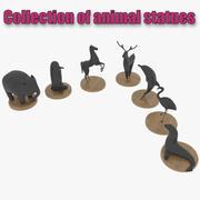 Posągi zwierząt 3d model