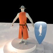 Cartoon Knight 3d model