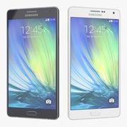 Samsung Galaxy A7 blauw en wit 3d model