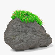 Stone and Moss 3d model