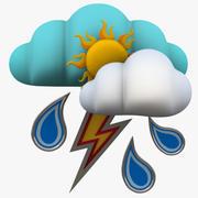Vädersymboler 3d model