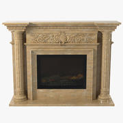 Marble Fireplace Glivi 3d model