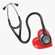 Stethoskop & Herz 3d model