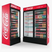 Coca-Cola Fridges 3d model