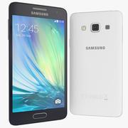 Samsung Galaxy A3 Azul e Branco 3d model