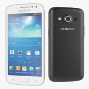 Samsung Galaxy Core LTE in zwart en wit 3d model