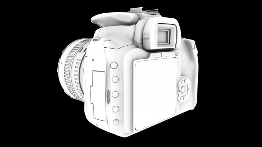 Camera Canon royalty-free 3d model - Preview no. 6