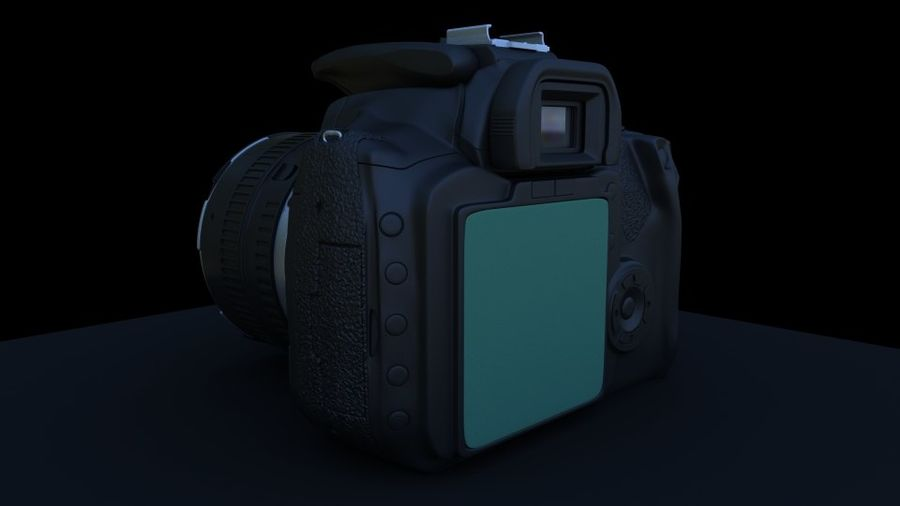 Camera Canon royalty-free 3d model - Preview no. 4