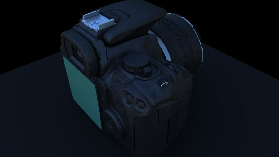 Camera Canon royalty-free 3d model - Preview no. 7