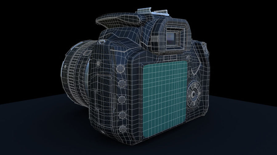 Camera Canon royalty-free 3d model - Preview no. 5