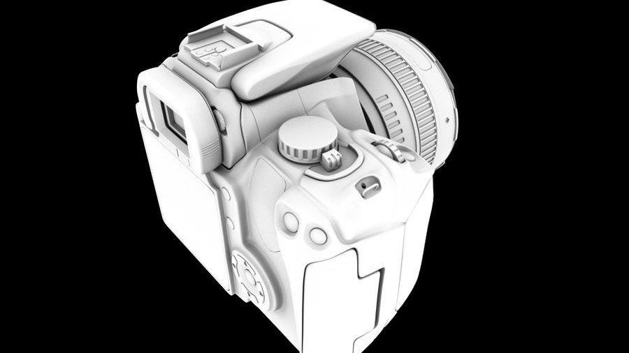 Camera Canon royalty-free 3d model - Preview no. 9