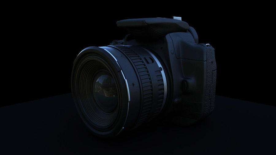 Camera Canon royalty-free 3d model - Preview no. 1