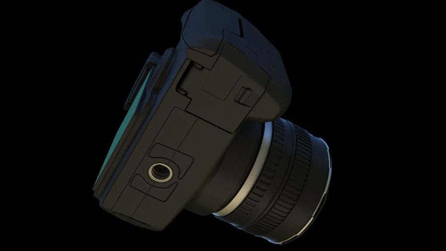 Camera Canon royalty-free 3d model - Preview no. 10