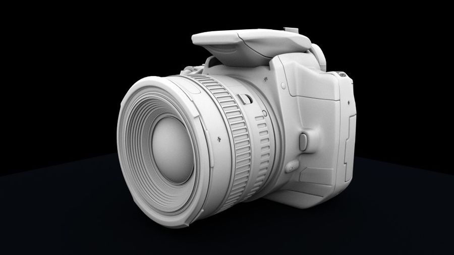 Camera Canon royalty-free 3d model - Preview no. 3