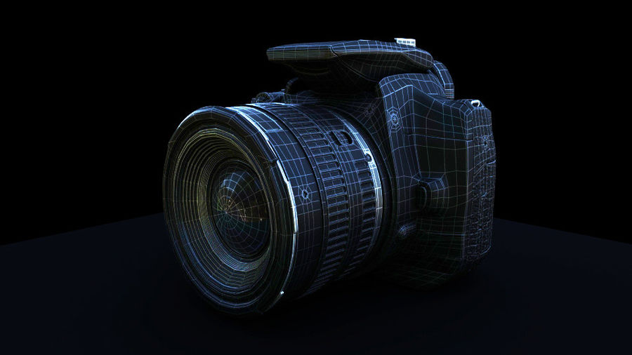 Camera Canon royalty-free 3d model - Preview no. 2
