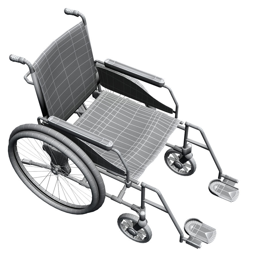 Wheel Chair royalty-free 3d model - Preview no. 11
