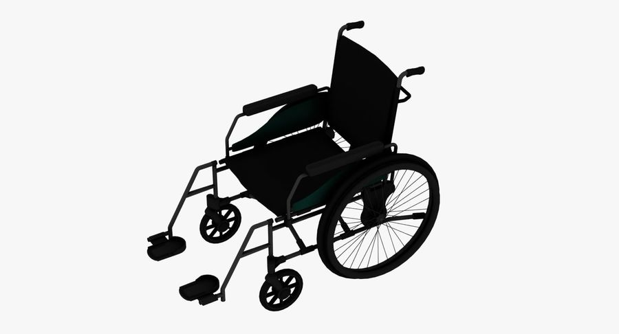 Wheel Chair royalty-free 3d model - Preview no. 1