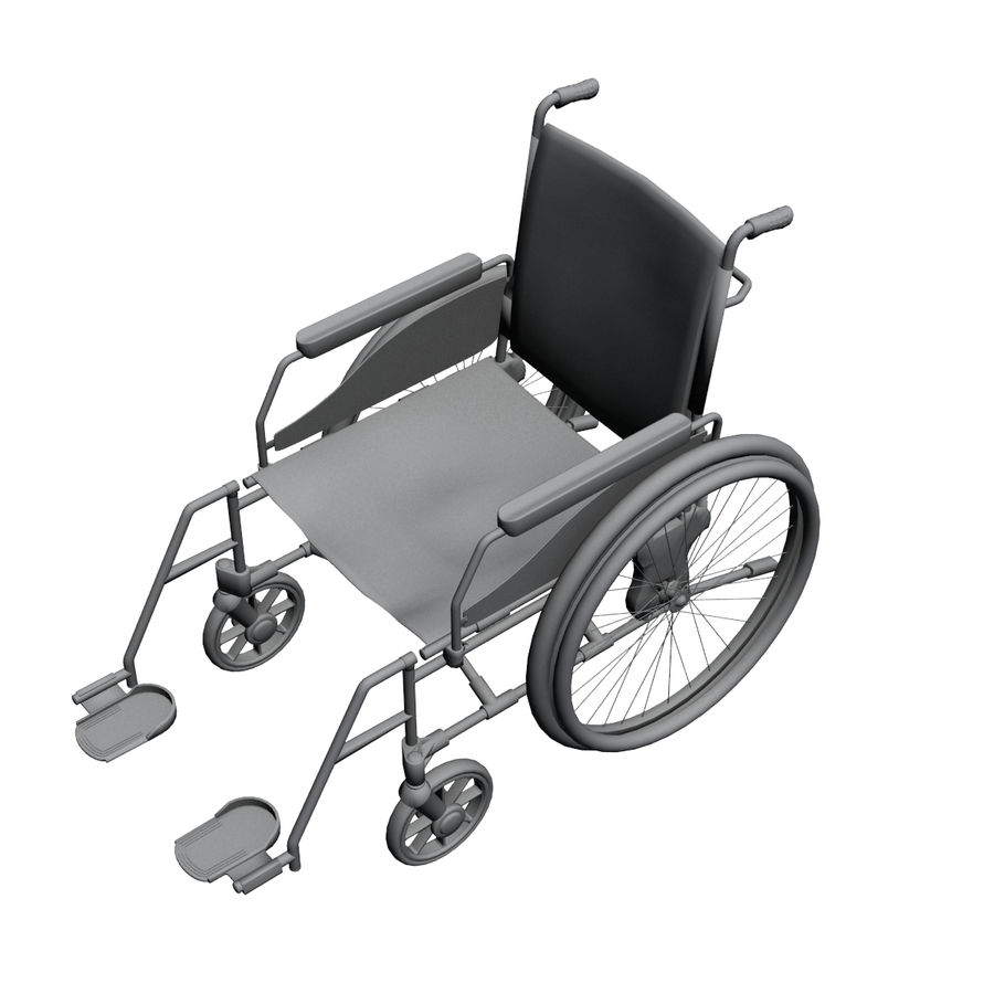 Wheel Chair royalty-free 3d model - Preview no. 7